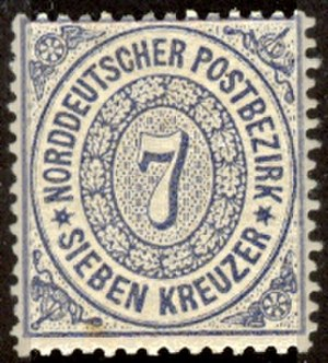 North German Confederation - North German 7-kreuzer stamp, 1868
