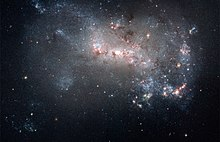 Starburst in NGC 4449 (captured by the Hubble Space Telescope).jpg