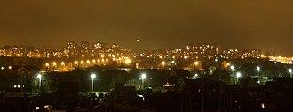 Petergof - Modern residential boroughs of Petergof at night
