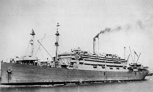 USS Republic (AP-33) - USS Republic arriving in Brisbane December 1941.