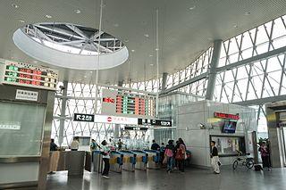 Railway station in Keelung, Taiwan