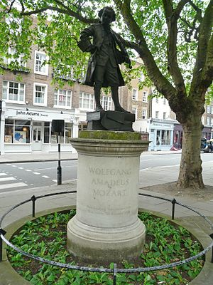 Ebury Street - Image: Statue of Mozart, Orange Square SW1