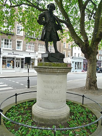 Ebury Street - Image: Statue of Mozart, Orange Square SW1