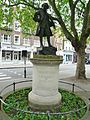 Statue of Mozart, Orange Square SW1.JPG
