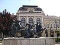 Statue of soldiers by Zsigmond Kisfaludi Strobl (1967), Dobó Square, Eger 2010. - Злобные турки (враги доброго Добо Иштвана) - panoramio.jpg