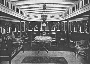 Regulator (sternwheeler) - Ladies cabin on the steamer Regulator