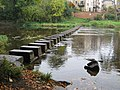 Stepping stones Morpeth - geograph.org.uk - 1533870.jpg