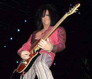 Steve Stevens - Stevens performing with Billy Idol in 2008 in Winnipeg, Manitoba, Canada