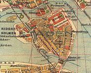 Stockholm Gamla stan map 1910