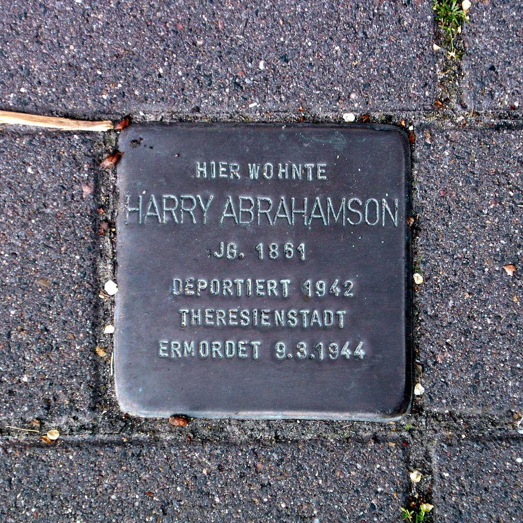 Stolperstein Harry Abrahamson