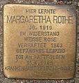 Stolperstein Edmund-Siemers-Allee 1 (Margaretha Rothe) in Hamburg-Rotherbaum.JPG