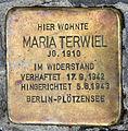 Stolperstein Lietzenburger Str 72 (Charl) Maria Terwiel.jpg