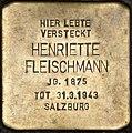 Stolperstein Salzburg, Henriette Fleischmann (Kaigasse 8).jpg
