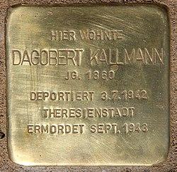 Photo of Dagobert Kallmann brass plaque