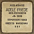 Stolperstein für Adele Friede (Cottbus).jpg