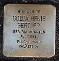 Stolperstein für Golda Henie Gertler.JPG