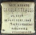 Stolpersteine Köln, Carola Strauss (Aachener Straße 28).jpg