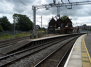 Stone railway station - Image: Stone railway station looking south
