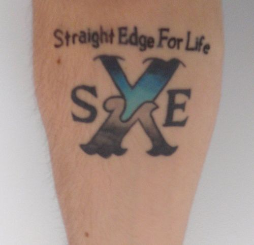 Straight Edge Tattoo cropped