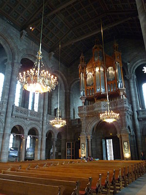Temple Neuf - Interior looking west