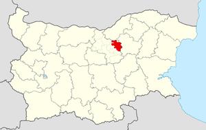 Strazhitsa Municipality - Image: Strazhitsa Municipality Within Bulgaria