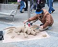Street Artist - Briggate (geograph 3916566).jpg