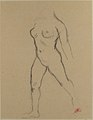 "Study for ""Action in Chains (Monument to Louis-Auguste Blanqui)"" or ""Île de France (Woman Walking in Water)"", 1905-07 MET 21.14.jpg"