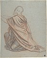 Study of a Kneeling Man; verso- Cropped Study of a Standing Man in a Cloak MET DP801464.jpg