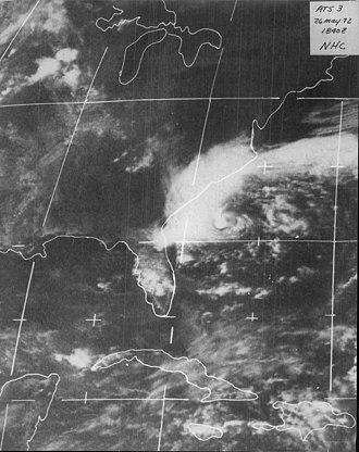 1972 Atlantic hurricane season - Image: Subtropical Storm Alpha (1972)