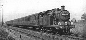 Suburban train for Brentwood, GER section of the LNER (CJ Allen, Steel Highway, 1928).jpg
