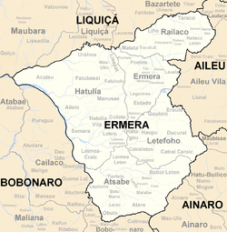 Subdistricts of Ermera