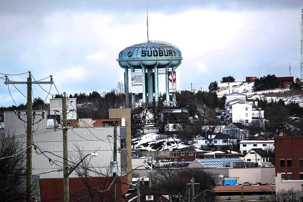 Sudbury Water Tower Winter Time