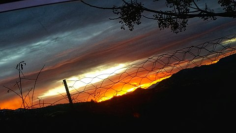 Sunset in the village of the chréa municipality of Guenzet Setif province Algeria.jpg