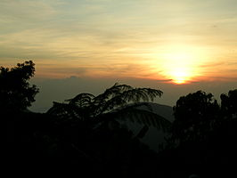 Zonsondergang in Genting Highlands