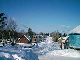 Suoyarvi - A street in Suoyarvi