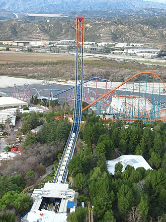 Superman: Escape from Krypton - Superman: Escape from Krypton as viewed from the Sky Tower.