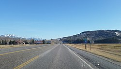 U.S. Route 26, entering Swan Valley, ID