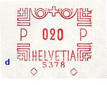 Switzerland stamp type BB1dd.jpg