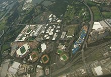 Aerial Image Of Sydney Olympic Park Including The Circuit Looking North