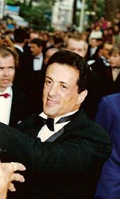 Sylvester Stallone al Festival di Cannes 1993.