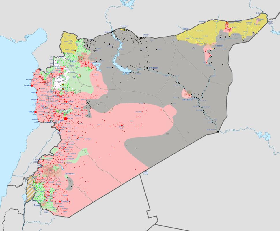Syrian civil warmap