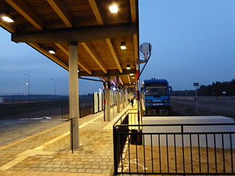 Olsztyn-Mazury Airport - Railway station at the airport