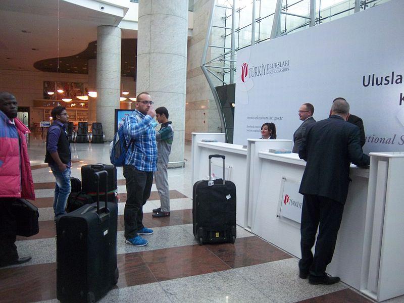 File:Türkiye Scholarships (Ankara airport).JPG