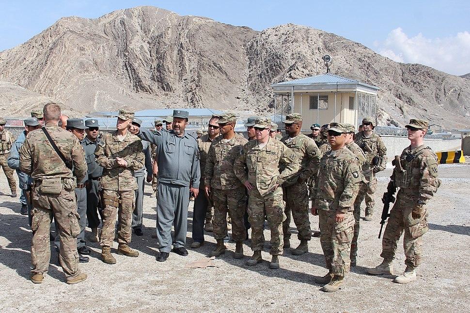 TAAC-E advisers observe progress in Afghan police logistics 150217-A-VO006-028