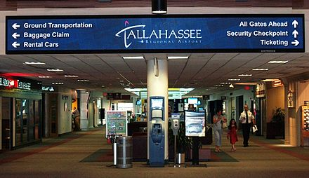 Tallahassee International Airport seen here as Tallahassee Regional Airport TLHregional.JPG