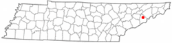 Location of Parrottsville, Tennessee
