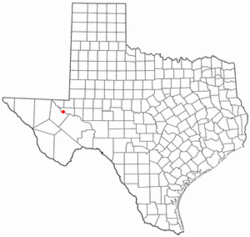 Location of Barstow, Texas
