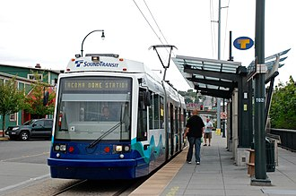 Tacoma Link - The Link station of the Tacoma Dome Station complex
