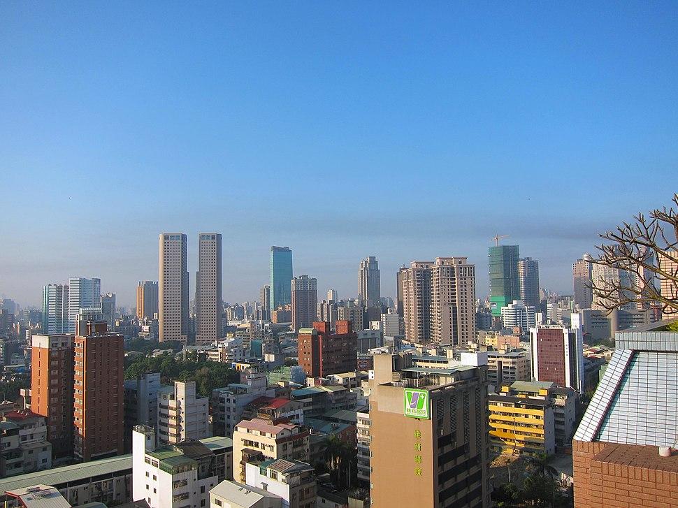 Taichung skyline on a clear day