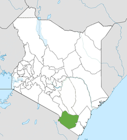 Location of Taita-Taveta County (Green)